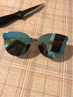 Frameless Cat Eye Mirrored Sunglasses Reviews