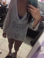 Crochet Plunge Beach Cover-Up Dress Reviews