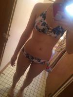 Halter Flower Bralette Cute Bathing Suit Reviews - White L