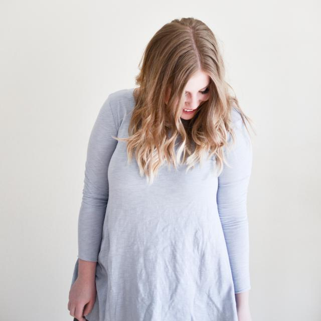 This soft blue top is perfect for spring! Already become a staple in my wardrobe!