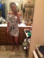 Off The Shoulder Flower Vintage Dress Reviews - White M