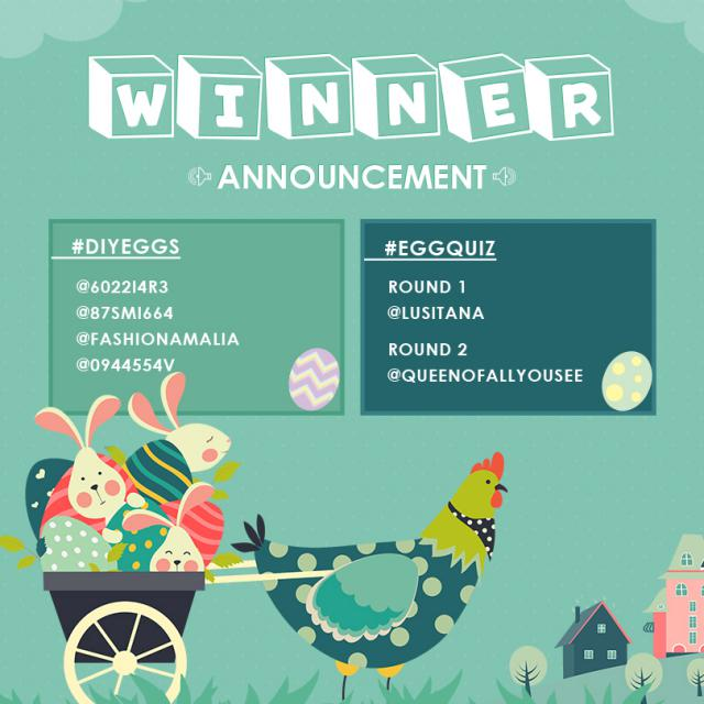 【Winners Announcement】