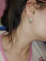 Geometric Triangle Faux Gem Stud Earrings Reviews