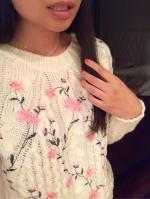 Floral Embroidered Sweater Reviews - Size One