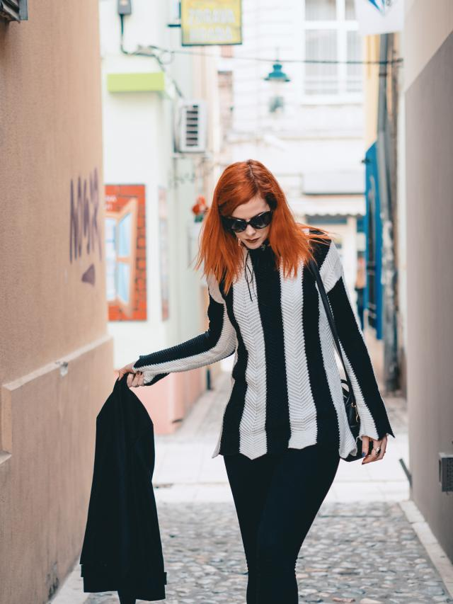 #blackandwhite #sweater #cosy #beetlejuice #stylish #goth #zafulhits