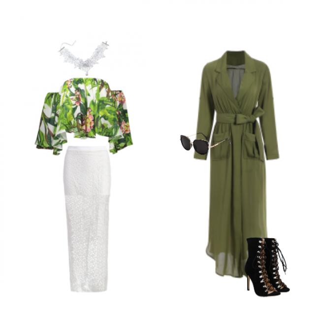 #springbreak2017 Elegancke & romantic VS Military outfit. #zafulhits