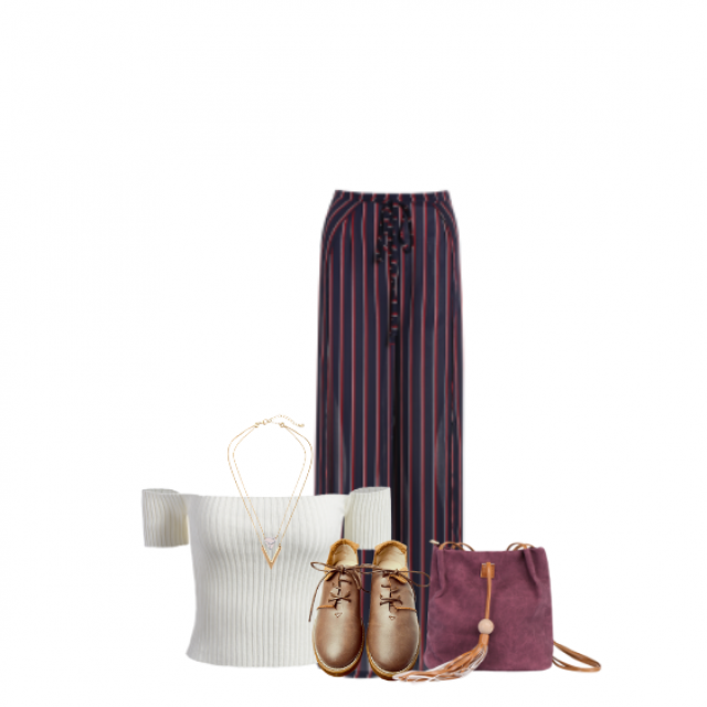 #BlogMeuestiloe, #Pants, #Striped, #Oxford, #Shoes, #Top, #Bag