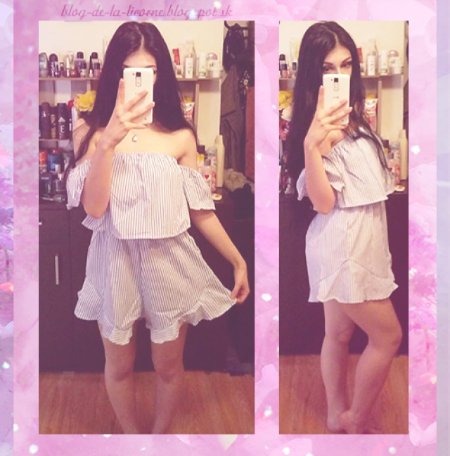 I find this romper very comfortable to wear and made from a very light material. I really like that frill around the