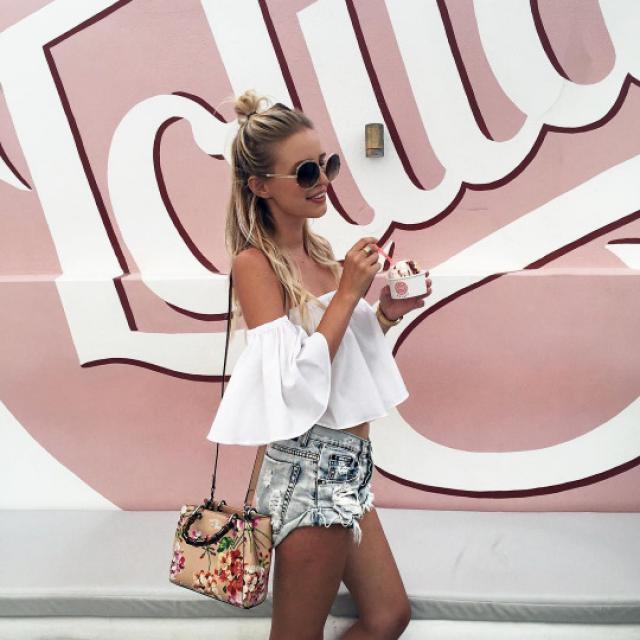 I\'m still in love withoff shoulder tops! ♥♥♥#coachella2017 #springbreak2017 #zafulhits #summer #spring #boho