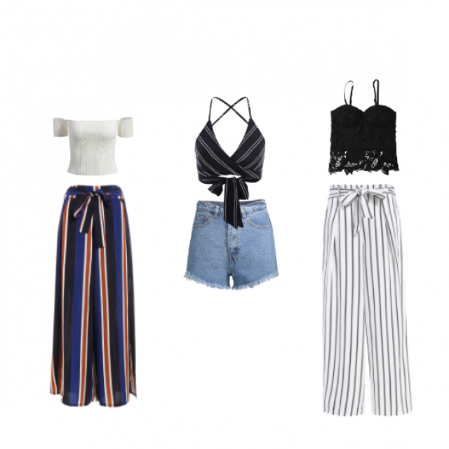I put together 3 very trendy, cute, fun and classy-ish outfits for this summer!  #summer2k17 #mysizerox