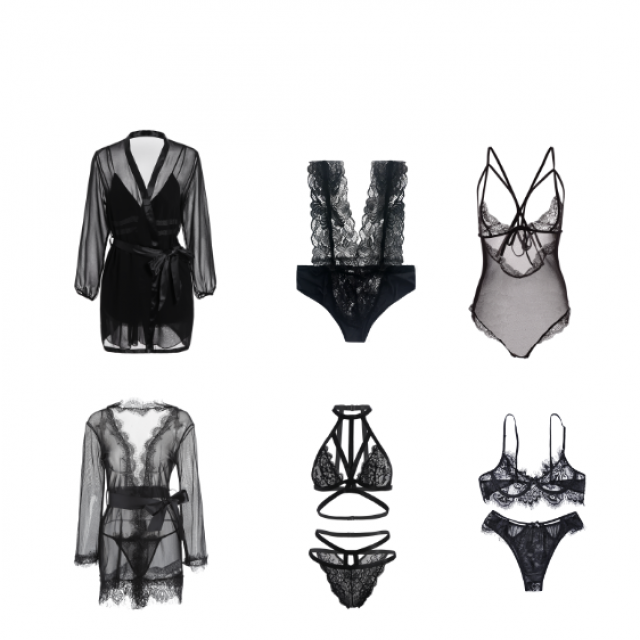bae appreciation lingerie, something lace and sheer and my fave colour, BLACK #Lace #Sheer #zafulhits