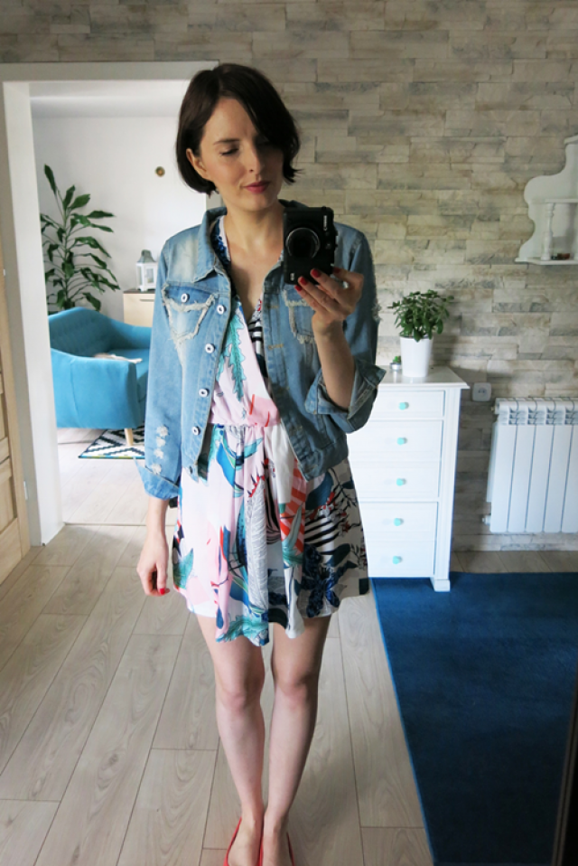 Denim jacket, spring romper