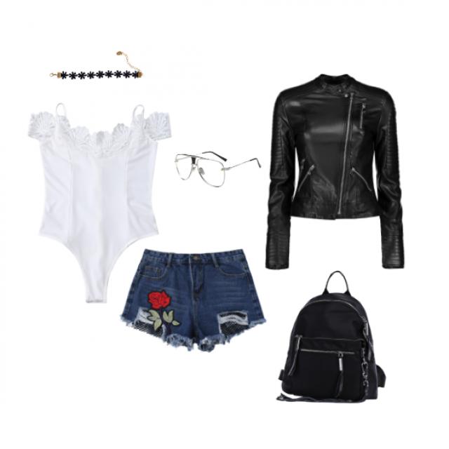 #zafulhits#Biker#summer#leather#floralprint#embroidery