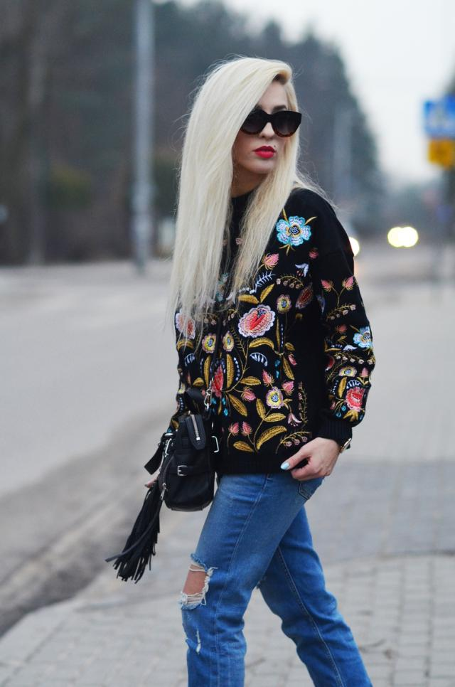 floral sweater form ZAFUL <3 #floralprint  more  inspirations: www.anetaaneta.pl