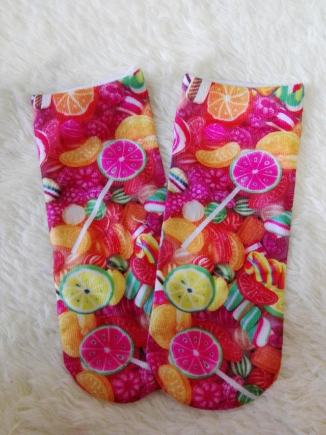 These are so cute *_* #candy #candies #fruit #socks