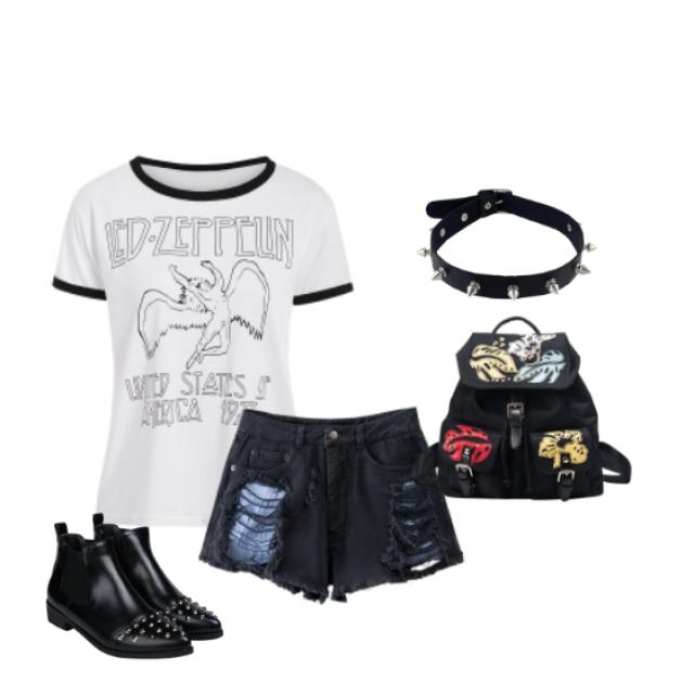 #rock #style #summer #choker  more  inspirations: www.anetaaneta.pl