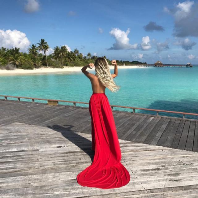 Red maxi dress for perfect summer! #zafulhits #floralprint #summer #summerdress #ootd #outfit