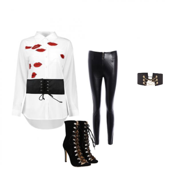 #laceup #elegant #outfit