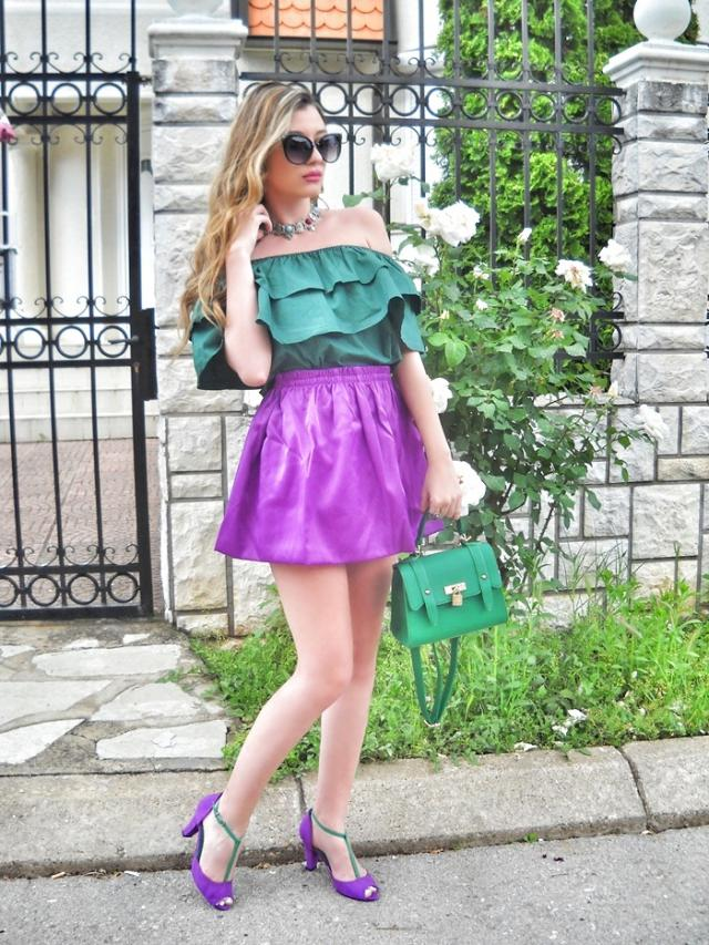 Purple and green :)  IG: @tijamomcilovic     