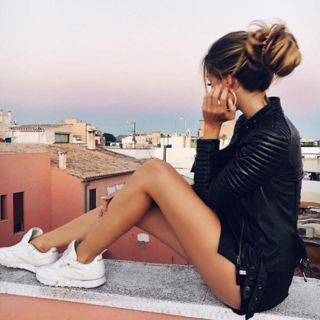 Leather jacket #jacket #leatherjacket #blackjacket #tumblr #baddies #summer #models #hot #sexy #dressforidol #denimlove