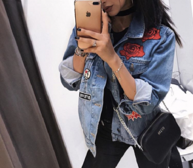 Denim jacket is a must have! #dressforidol #springbreak2017 #denimlove #gotolook #loveselfie #fashion #ootd #outfit