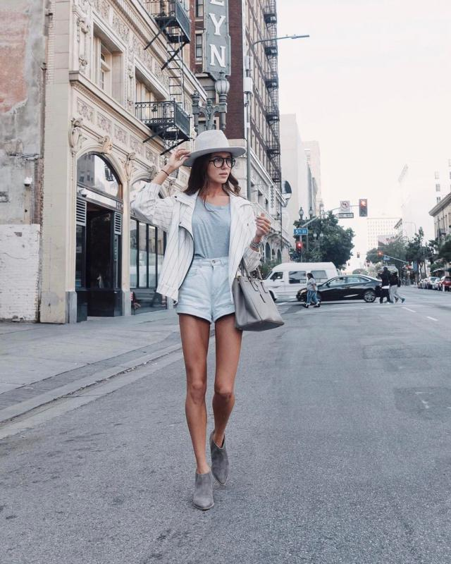 Classy and chis outfit of the day. #shorts #hat #style #outfit #denimlove