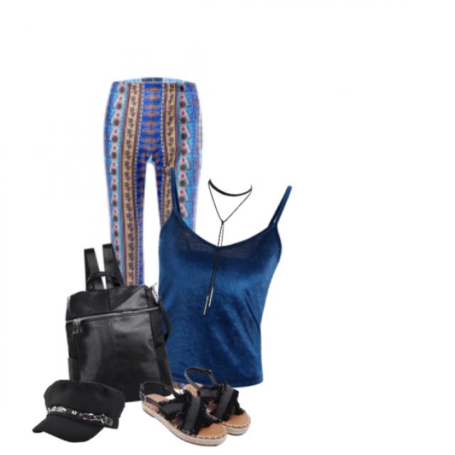 #springbreak2017 #partydress #gotolook #blue#chic#pattern#cap