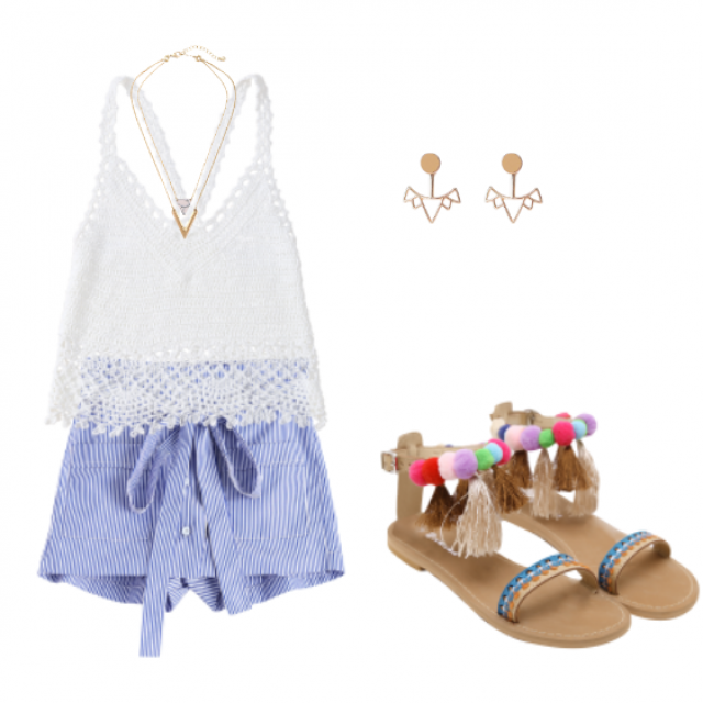 I show you another proposal with a perfect look for summer. The shorts look so beautiful. What do you think?           …