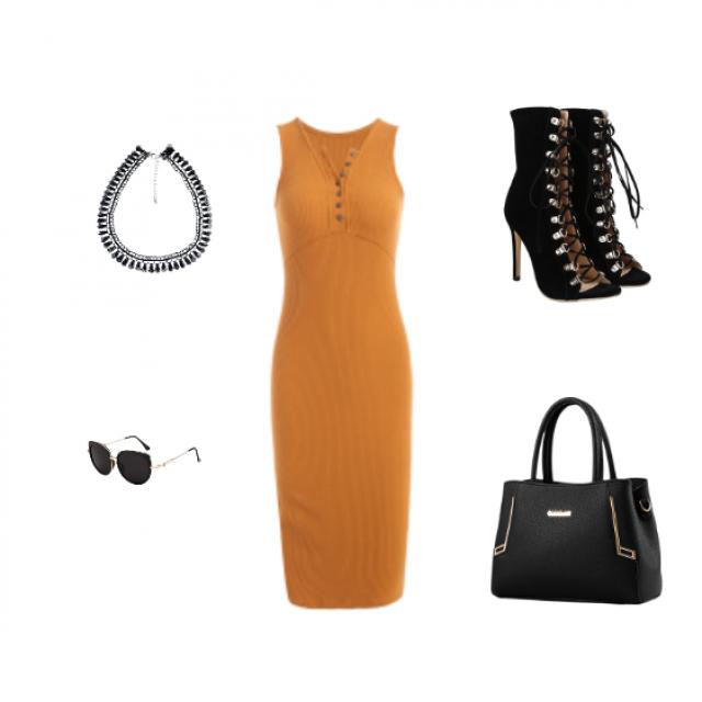 #datenight #mustarddress ##partydress