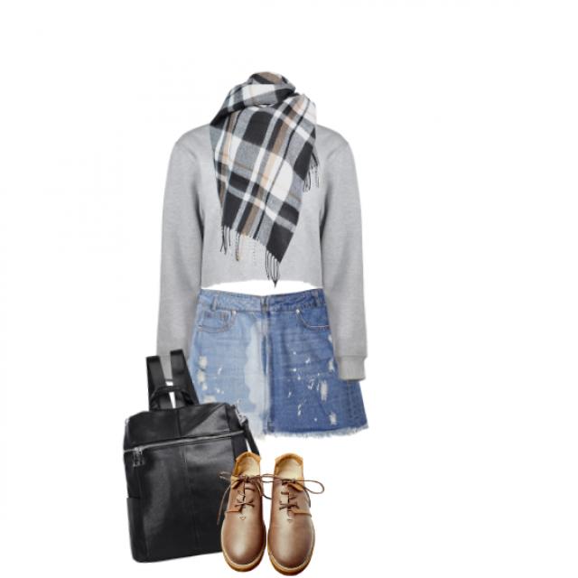 #shoeslover #springbreak2017 #denimlove#skirt#getthelook#stylish