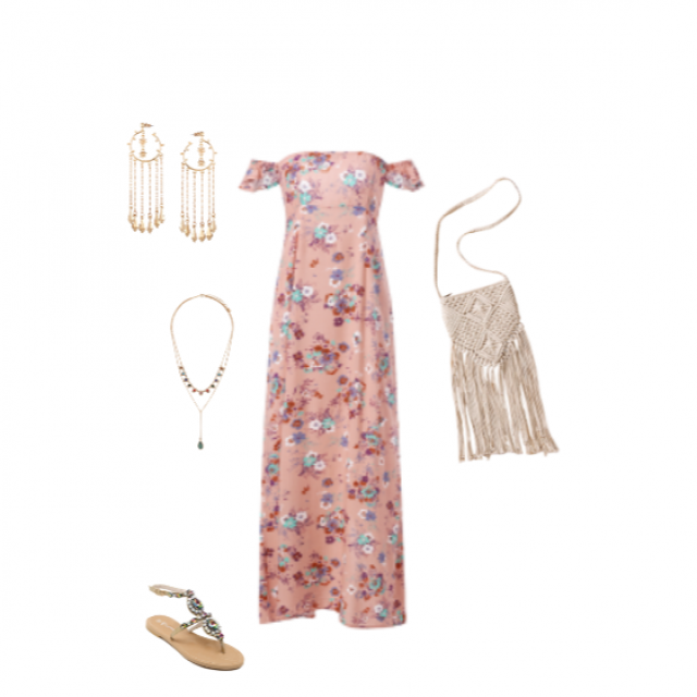 I love this perfect brunch/weekend outfit! #partydress #gotolook