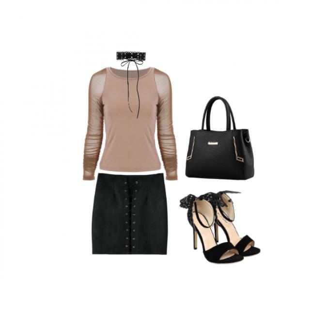 #Rosecontrast #NightOut #heels