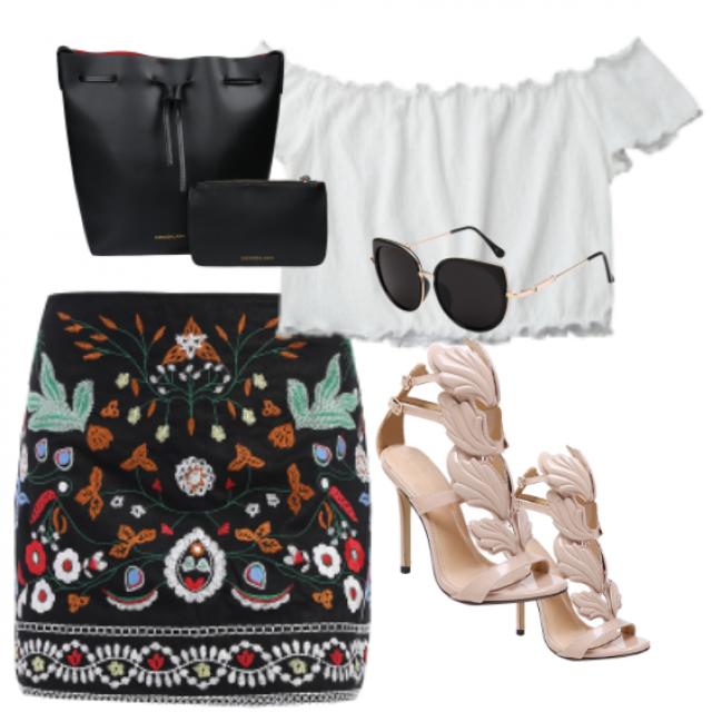 // Nice Style // #dressforidol #flatlay #gotolook #nailart #shoeslover #petslover #loveselfie #denimlove