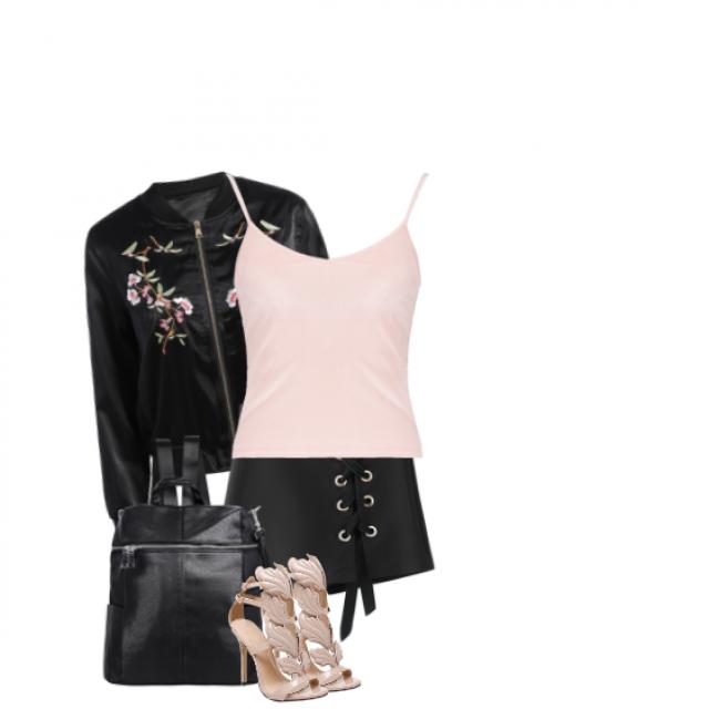 #shoeslover #black#pink#top#summer#spring