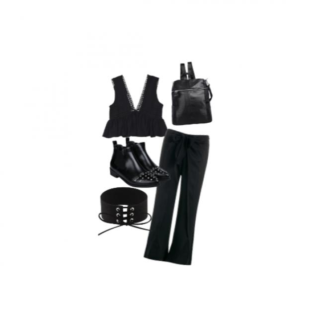 #flatlay #shoeslover #springbreak2017 #gotolook #black #style #outfit #fashion #elegant