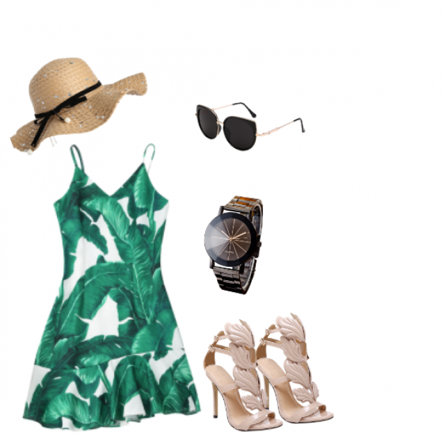#flatlay #summervibes #bestsummer #summerlook #lovelydress #leafydress #ootd