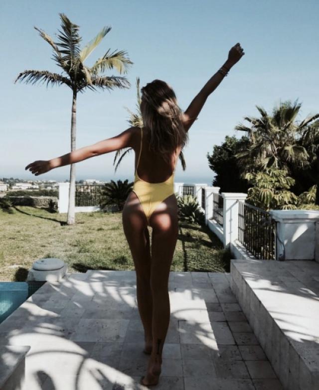 Yellow one piece is so sexy! #dressforidol #springbreak2017 #gotolook #bikini #summer #bikinibody #holiday