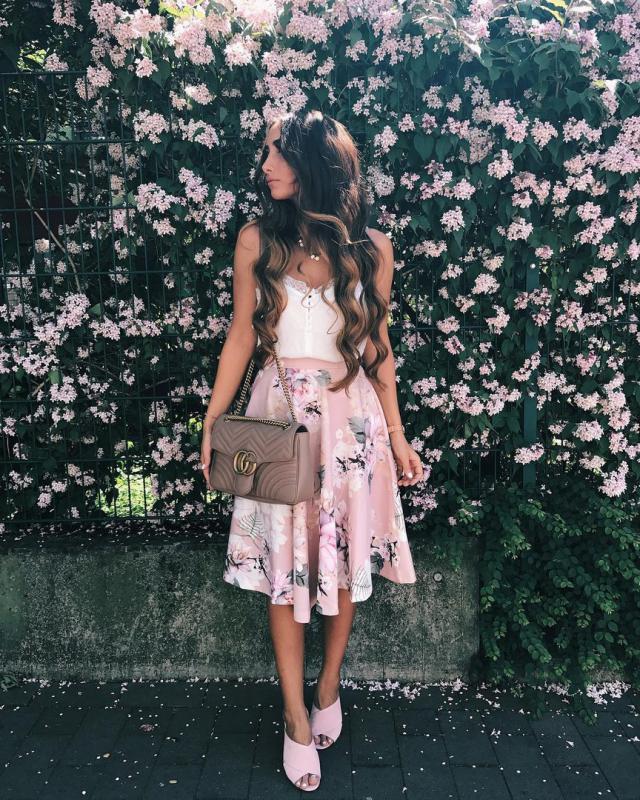 super floral #skirt