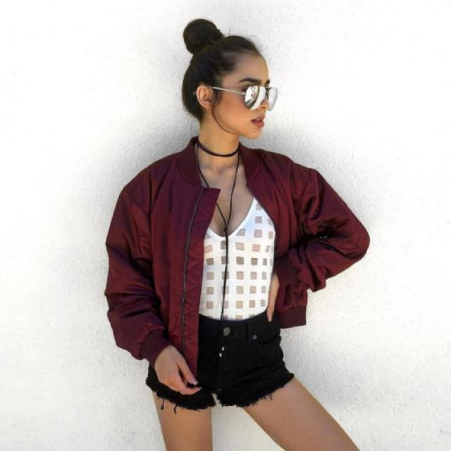 Beautiful bomber jacket! do you like it? let me know in the comments!♥♥♥♥♥♥♥♥♥♥                                …