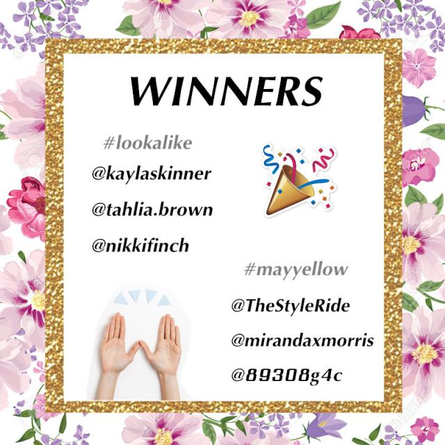 【Winners Announcement 】 Congrats to these lucky girls :) [How to get your gifts] 1. Send a mail to zme.luna@zaful…