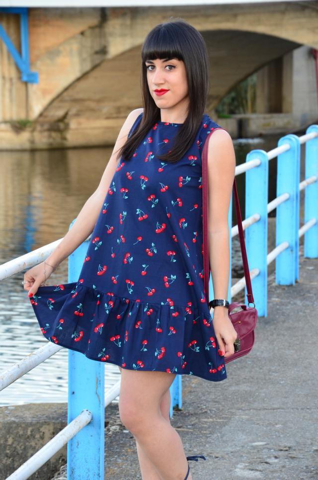 #ootd #cherry #dress #print #fruit #pretty #preppy #naif #lady #loveselfie #Partydress #3anniv #Gotolook #Petslover