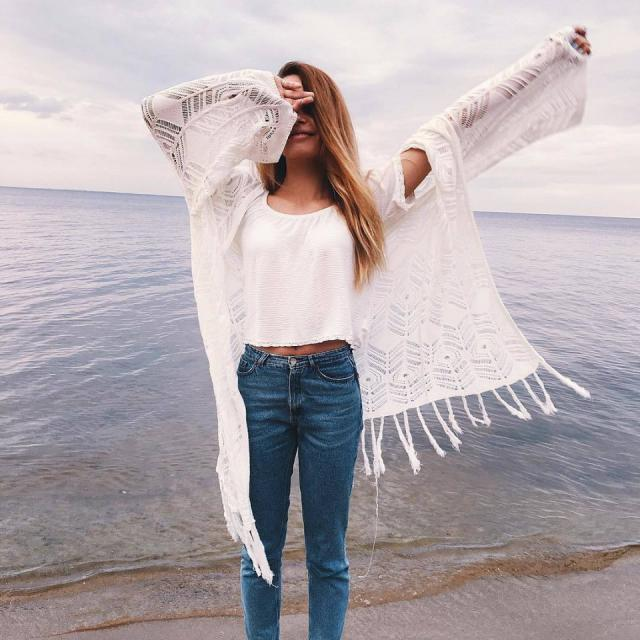 Yes or No? #denim #jeans #summer #ootd #sea #vacation