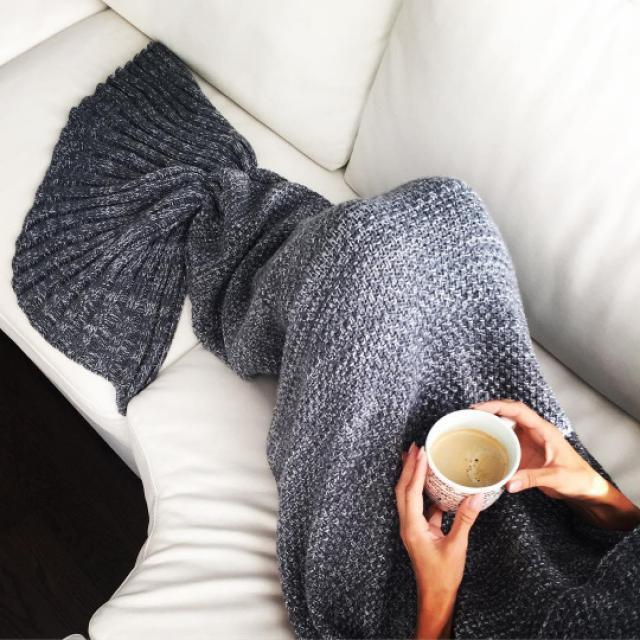Flounced Knitted Mermaid Tail Blanket #tumblr #mermaid #kids #girls #blanket
