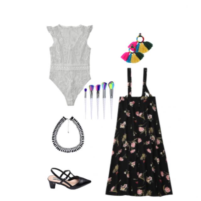 #dressforidol #floralprint #junepurple #shoeslover #flatlay #gotolook #ootd #partydress