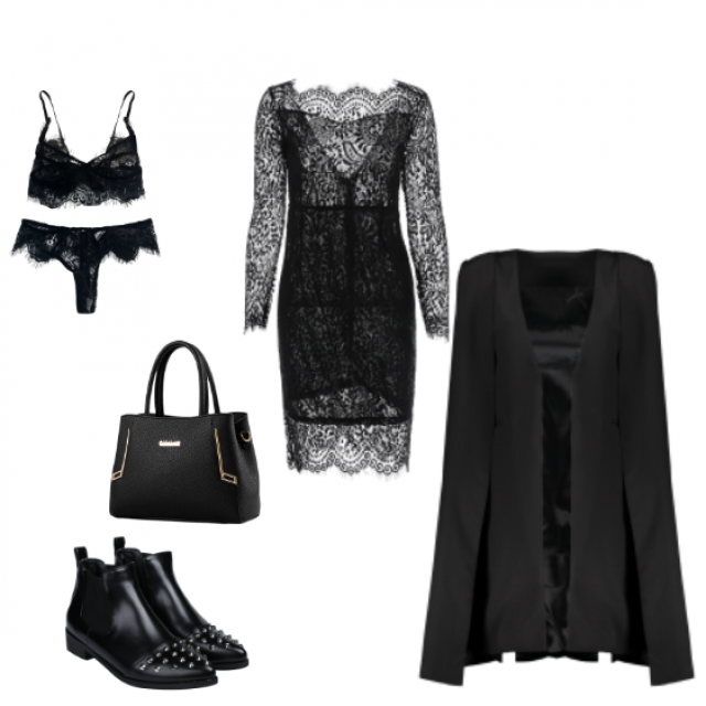 Lace Addict in Winter Look 