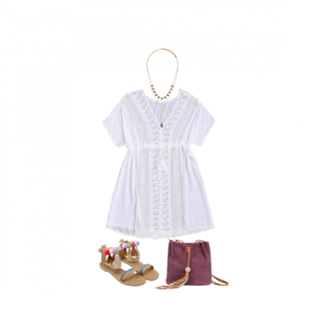A summery white dress with pops of colour in the shoes, bag and accessories!! #cute