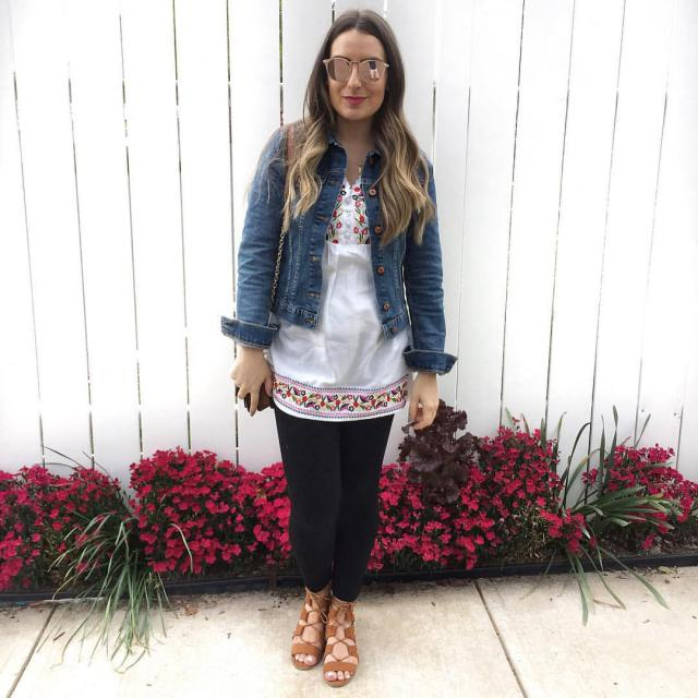 Casual outfit using trendy blouse with beautiful embroidery. #ootd #zaful_russian