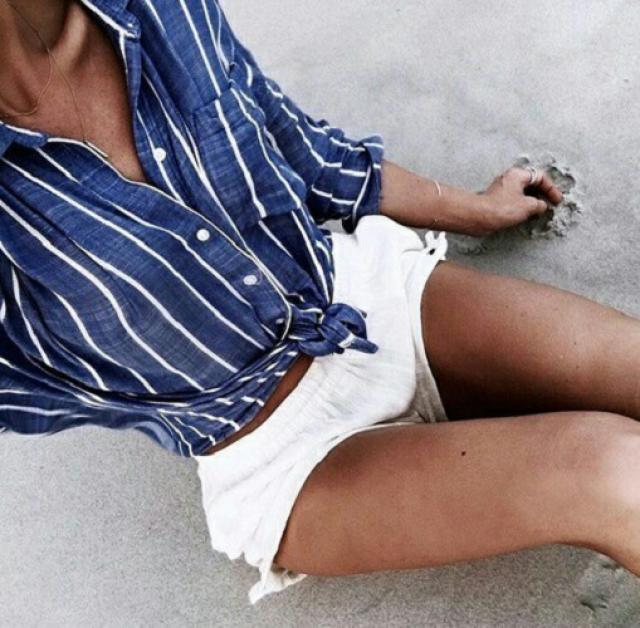 White shorts are perfect for summer! #fashion #style #trend #ootd #outfit #summer