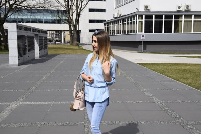 #springinthecity #blogger #babyblue #denim #style