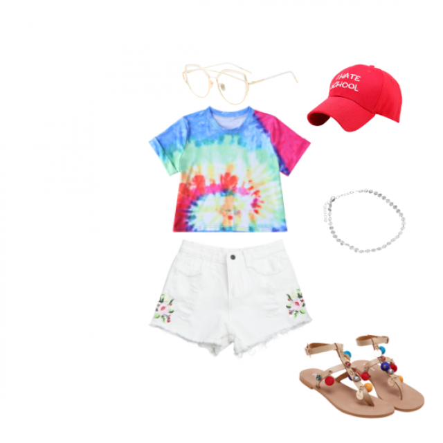 #summerlook #redhat it would have complete my outfit with some white converse or tommy but oh well they only had